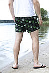 Костюм летний панама гербарий/камуфляж двусторонняя, бананка черная листики и шорты Breeze SKL59-297298, фото 9