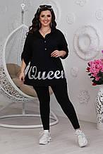 Жіноча вільна сорочка чорна SKL11-292704