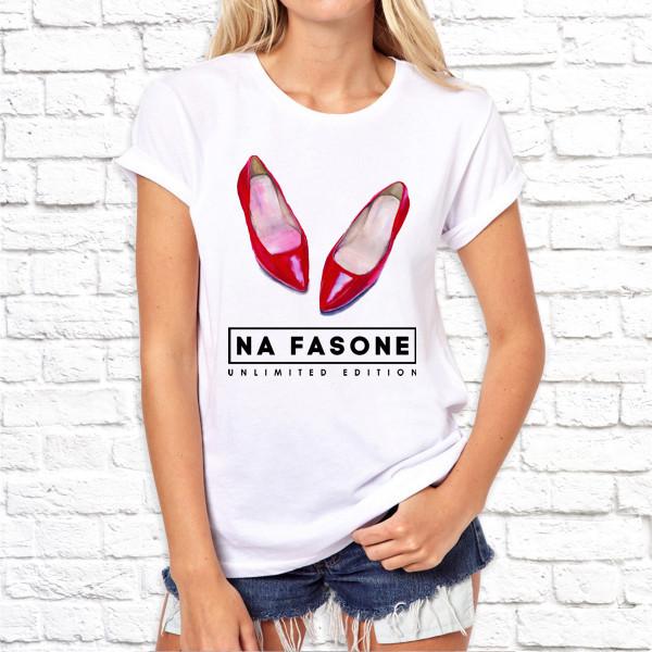 Жіноча футболка з принтом Na Fasone - unlimited edition SKL75-293000
