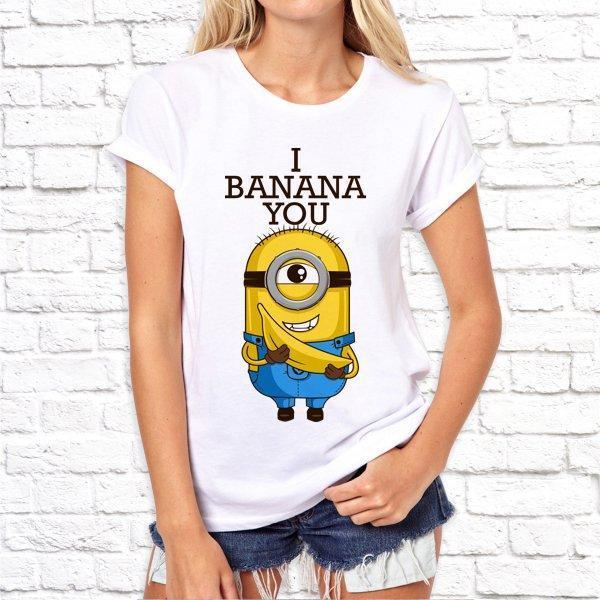 Жіноча футболка з принтом за мотивами мультфільму Міньйони SKL75-293048
