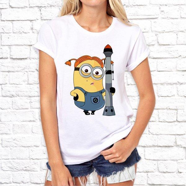 Жіноча футболка з принтом за мотивами мультфільму Міньйони SKL75-293049
