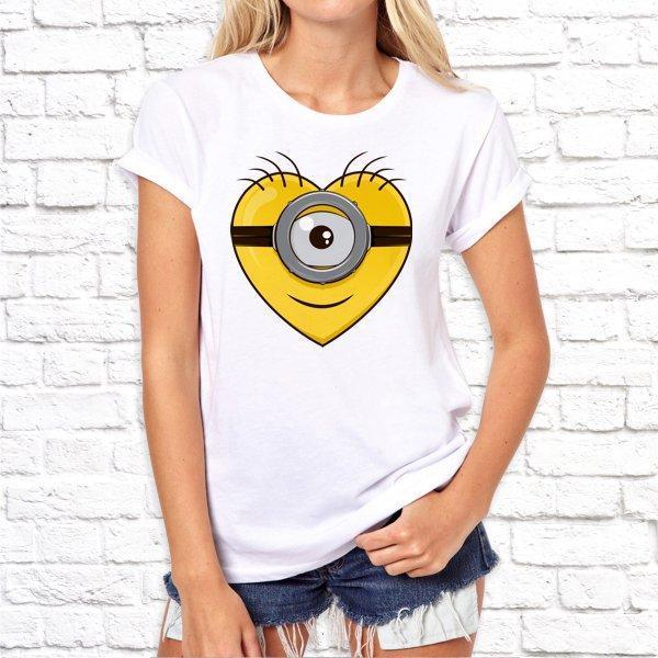 Женская футболка с принтом по мотивам мультфильма Миньоны SKL75-293050