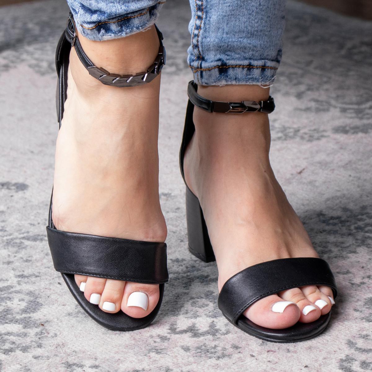Жіночі босоніжки Fashion Aeris 3090 36 розмір, 23,5 см Чорний