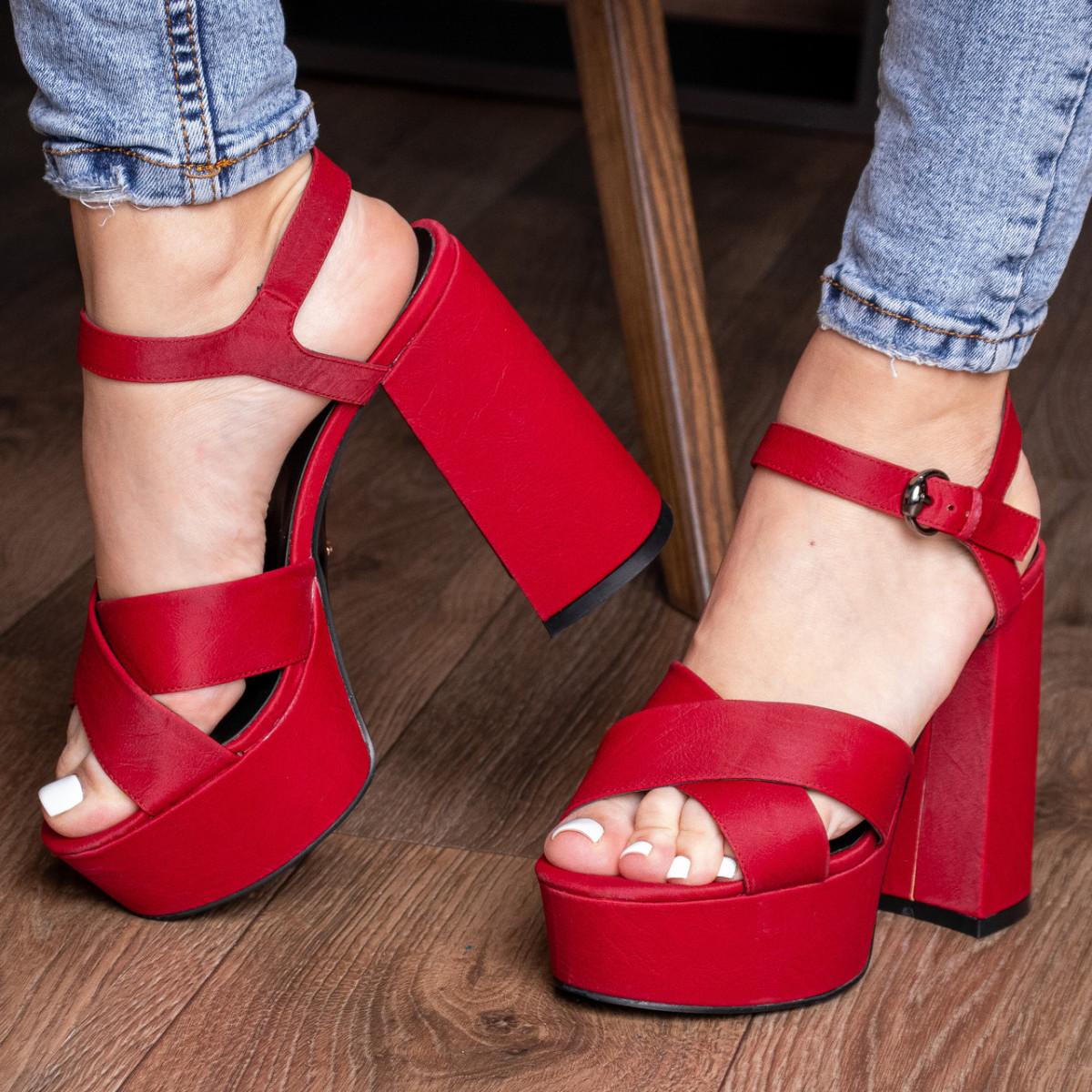 Женские босоножки Fashion Aquelina 3094 35 размер 23 см Красный