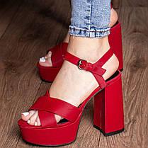 Женские босоножки Fashion Aquelina 3094 35 размер 23 см Красный, фото 2