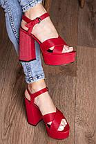 Женские босоножки Fashion Aquelina 3094 35 размер 23 см Красный, фото 3