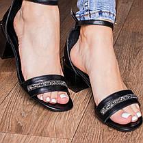 Жіночі босоніжки Fashion Bravy 3083 36 розмір, 23,5 см Чорний, фото 2