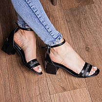 Жіночі босоніжки Fashion Bravy 3083 36 розмір, 23,5 см Чорний, фото 3