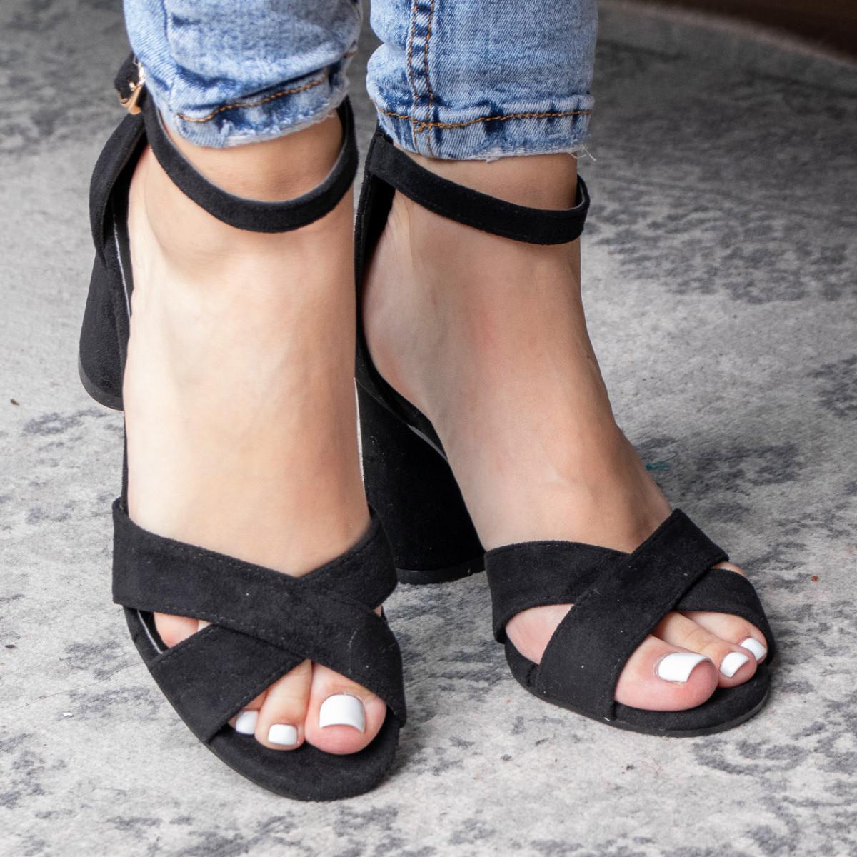 Жіночі босоніжки Fashion Catchy 3104 36 розмір, 23,5 см Чорний