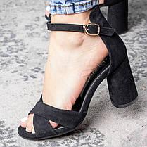 Жіночі босоніжки Fashion Catchy 3104 36 розмір, 23,5 см Чорний, фото 3