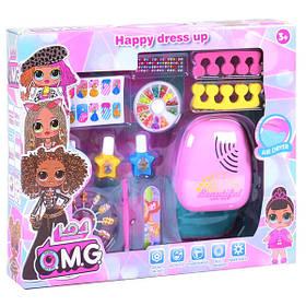 Маникюрный набор детский игровой для девочки OZM Toy с сушкой (35717)