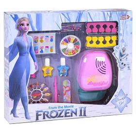 Маникюрный игровой набор для девочки Эльза Холодное Сердце Фрозен с сушкой и аксессуарами (35718)