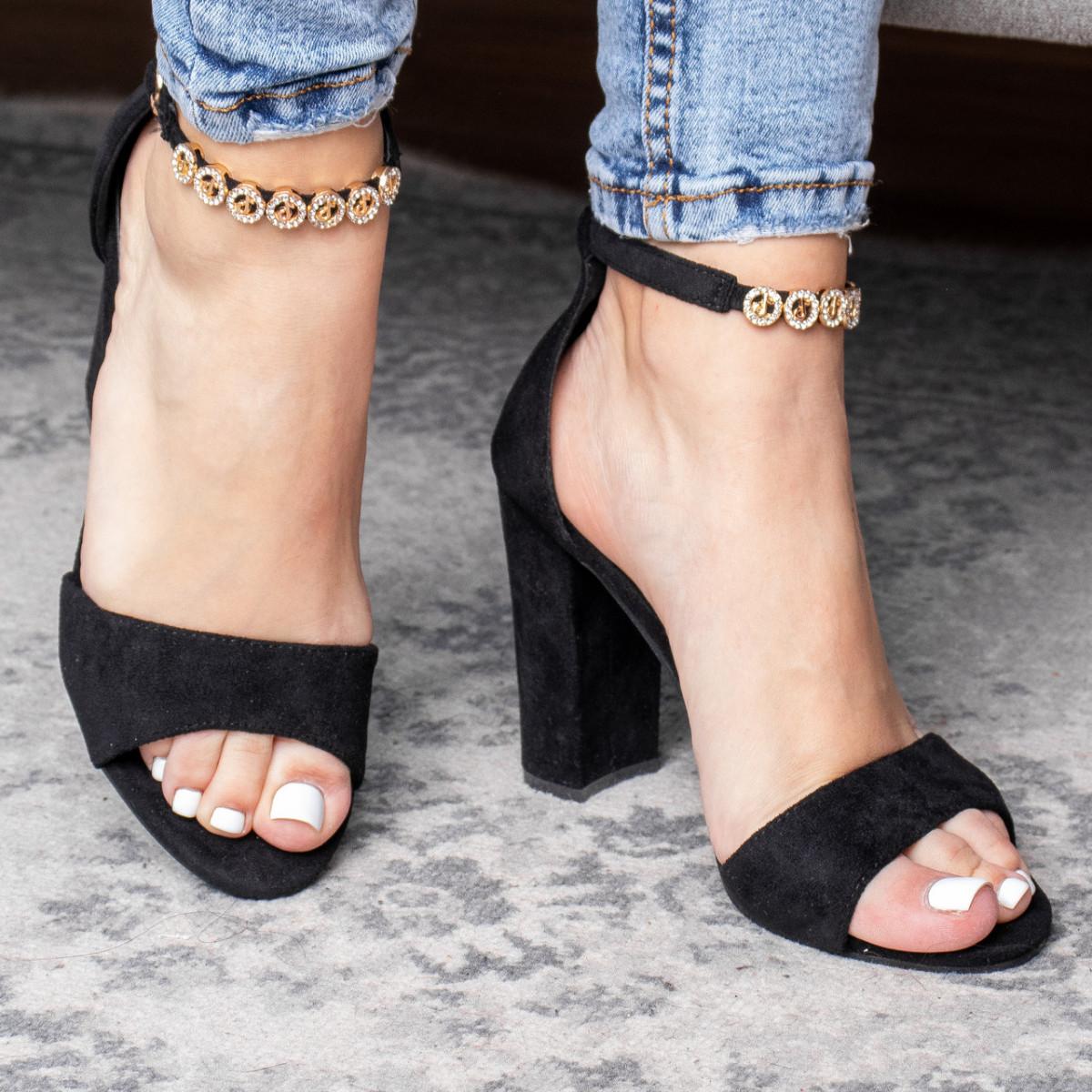 Женские босоножки Fashion Flash 3102 37 размер 24 см Черный