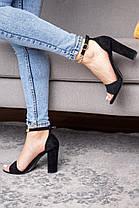 Женские босоножки Fashion Flash 3102 37 размер 24 см Черный, фото 3