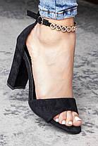 Женские босоножки Fashion Flash 3102 37 размер 24 см Черный, фото 2
