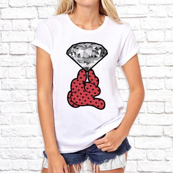 Жіноча футболка з принтом, Swag Діамант SKL75-293152