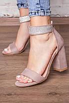 Женские босоножки Fashion Venezuela 3107 37 размер 24 см Бежевый, фото 2