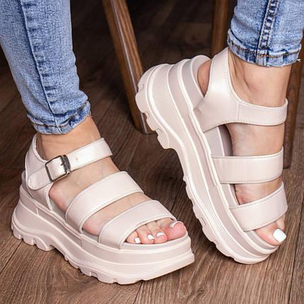 Жіночі сандалі Fashion Alexia 3100 36 розмір 23 см Бежевий, фото 2