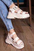 Жіночі сандалі Fashion Alexia 3100 36 розмір 23 см Бежевий, фото 3
