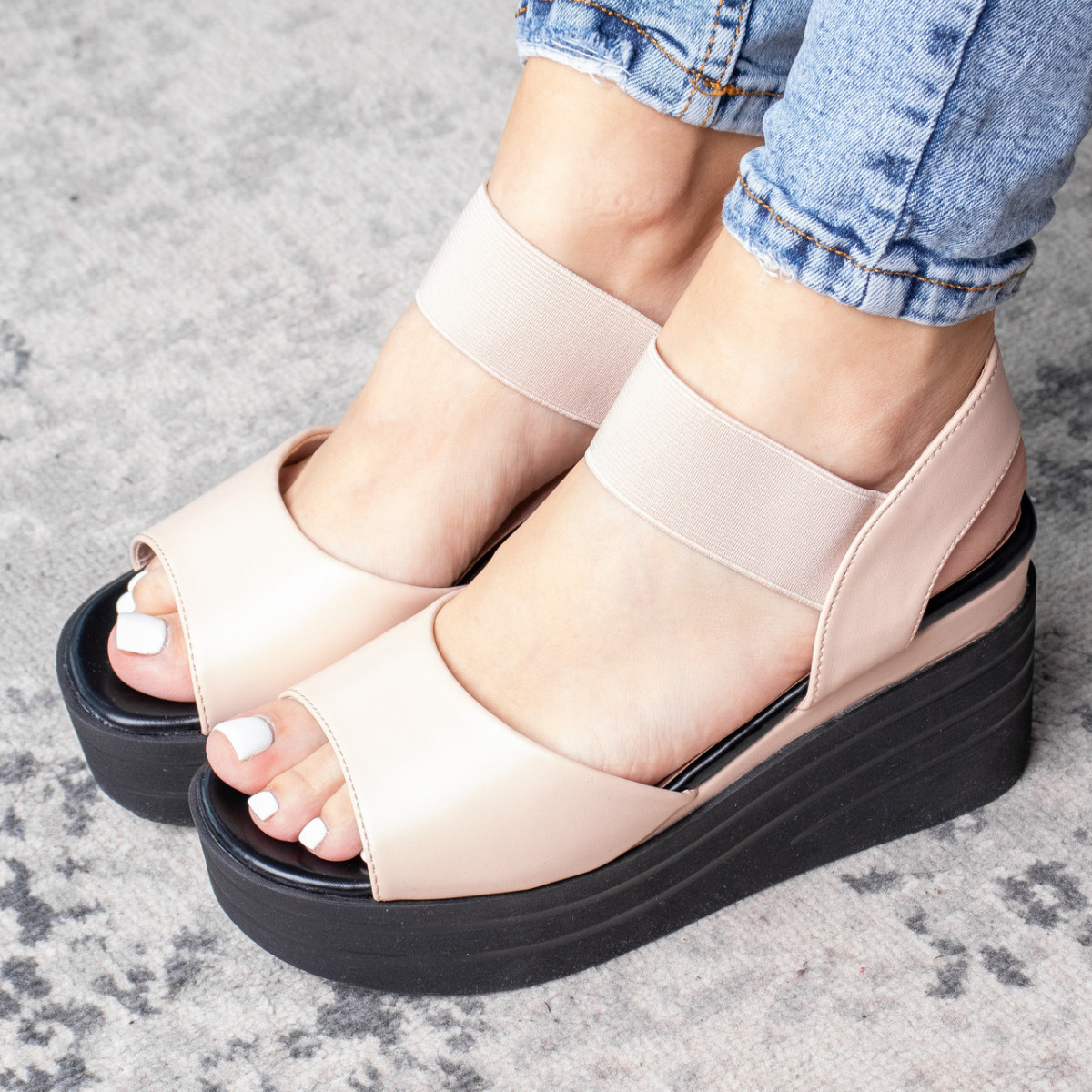 Женские сандалии Fashion Batista 3082 36 размер 23 см Бежевый