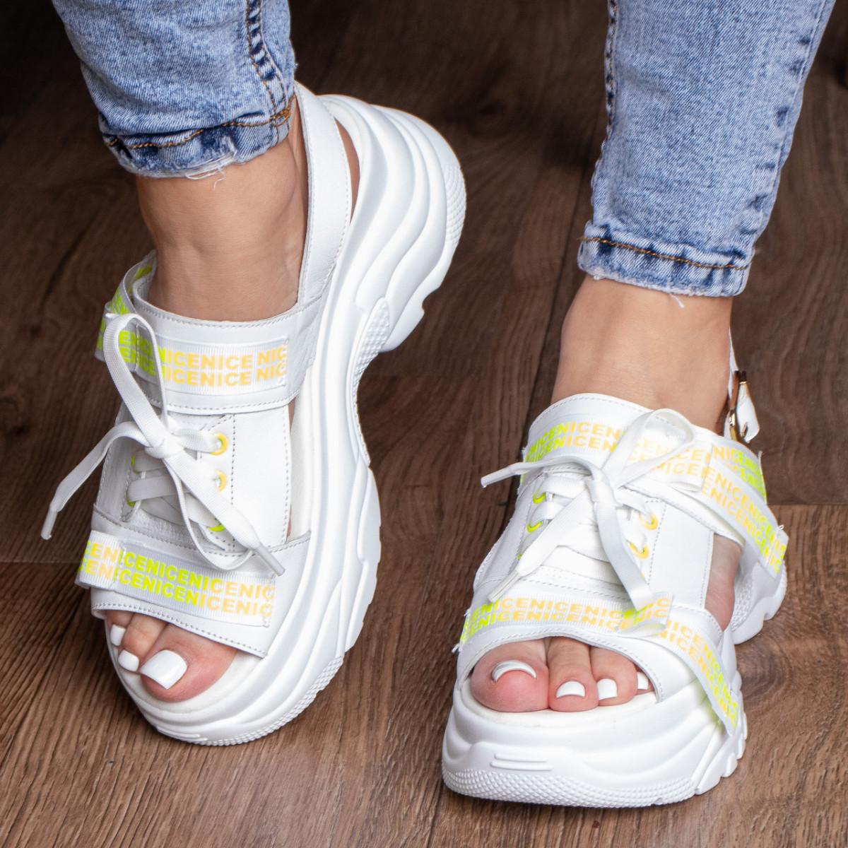 Жіночі сандалі Fashion Taffy 3016 36 розмір 23 см Білий