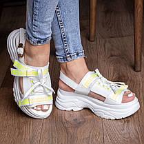 Жіночі сандалі Fashion Taffy 3016 36 розмір 23 см Білий, фото 3