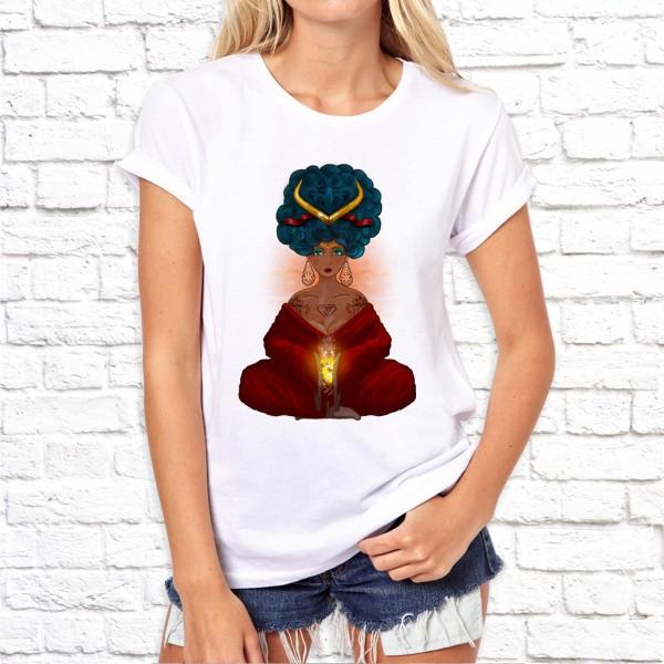 Жіноча футболка з принтом SKL75-293212