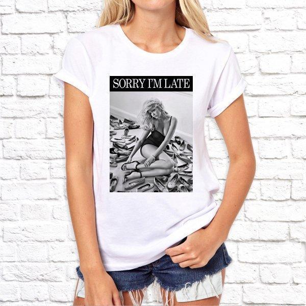Жіноча футболка з принтом, Swag Sorry imate SKL75-293216