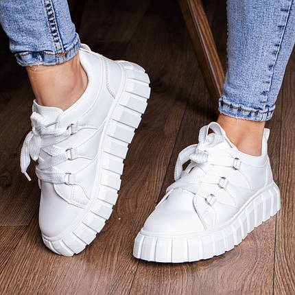 Кросівки жіночі Fashion Wizard 3127 36 розмір 23 см Білий, фото 2