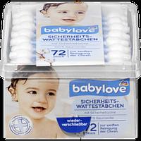Ушные палочки детские Babylove, 72 шт