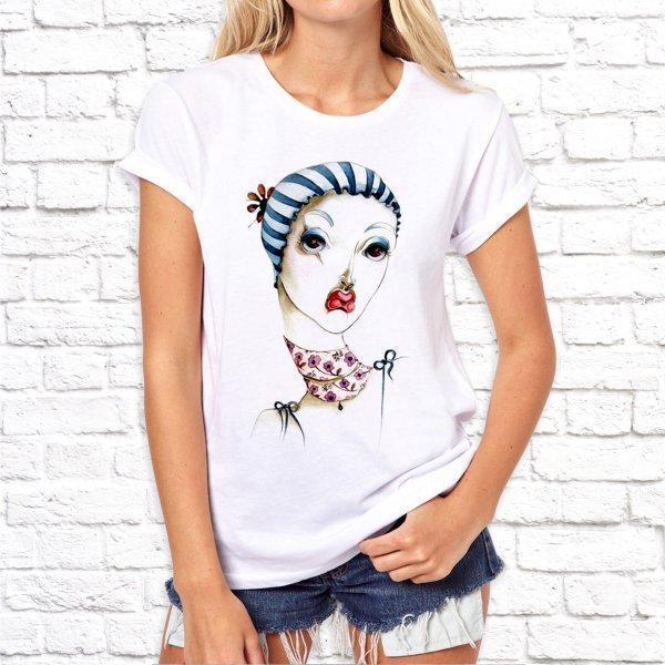 Жіноча футболка з дизайнерським принтом SKL75-293314