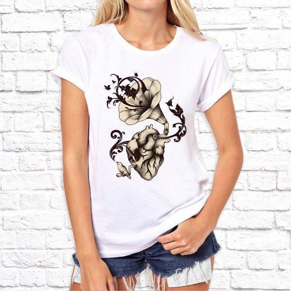 Женская футболка с дизайнерским принтом SKL75-293316