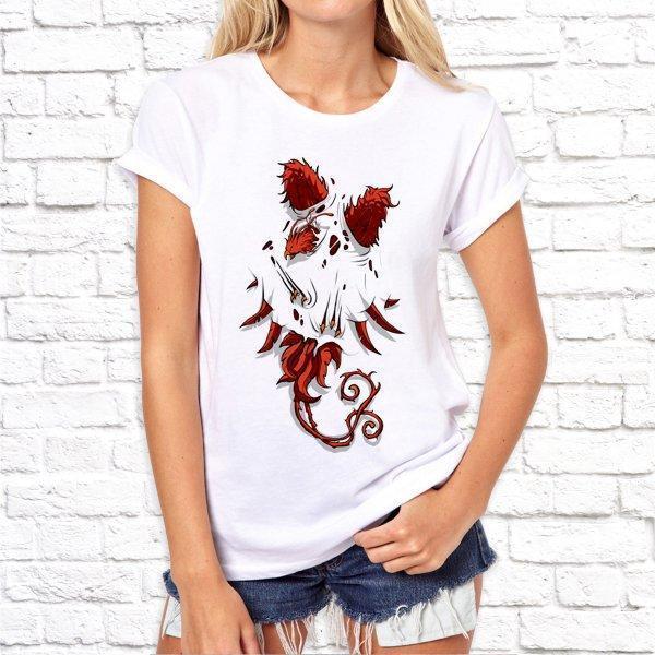 Жіноча футболка з дизайнерським принтом SKL75-293319