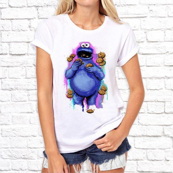 Жіноча футболка з дизайнерським принтом SKL75-293327