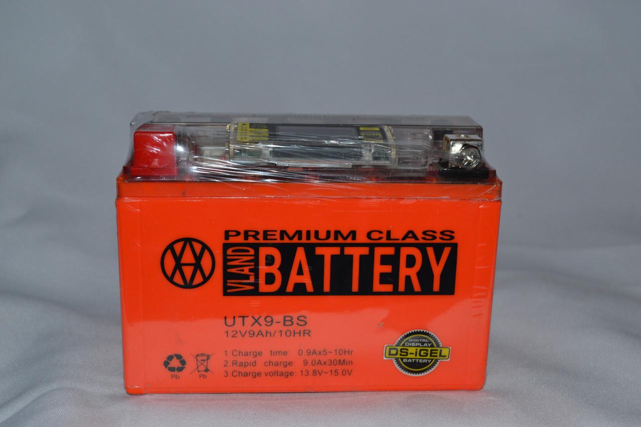 Акумулятор 12V 9Ah гелевий з цифровим вольтметром (150х87х107) UTX9-BS (помаранчевий) BATTERY