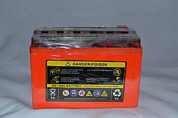 Акумулятор 12V 9Ah гелевий з цифровим вольтметром (150х87х107) UTX9-BS (помаранчевий) BATTERY, фото 3