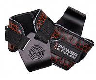 Спортивные крюки для тяги на запястья Power System Hooks V2 PS-3360 Black-Red Черно-красные L
