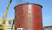 Пожарная емкость 250 м³ м.куб резервуар для воды с монтажом, изготовление резервуаров