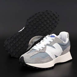Мужские кроссовки New Balance 327, серый, белый, Вьетнам