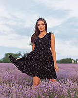 Яркое женское платье свободного кроя, фото 1