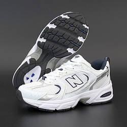 Мужские кроссовки New Balance 530, белый, серый, синий, Вьетнам