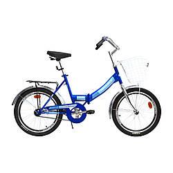 Складаний Велосипед CROSSRIDE 20 FLD ST FLIK Синій / для підлітків