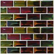Плитка Мозаика Mozaico de LUX TO-MOS METALLIC A171 PETROL L 182321