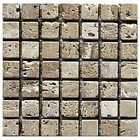 Плитка Мозаика Mozaico de LUX K-MOS TAVERTINO MIX EMPERADOR (15X15) 279217