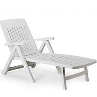 Лежак пляжный Smeraldo белый