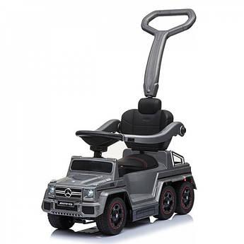 Детский электромобиль-каталка Rivertoys Mercedes-Benz шестиколесный серый