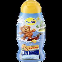 Гель для душа+шампунь детский SauBar Aprikose 3in1, 250 мл