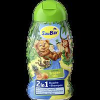 Гель для душа+шампунь детский SauBar Tropen-Mix 2in1, 250 мл
