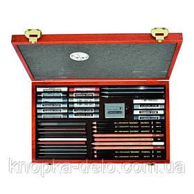 Набор 8895 художественный подарочный KOH-I-NOOR GIOCONDA 8895, 39 предметов в эксклюзивном деревянном пенале.