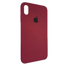 Чехол для Silicone Case iPhone XS Max Bordo (52)